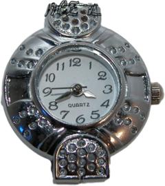 01196 Horloge Antiek zilver 29mmx24mm