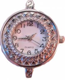 01063 Horloge Antiek zilver  1 stuks