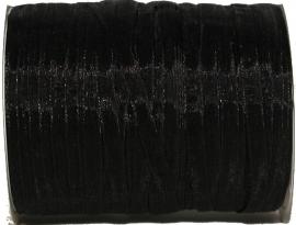 ORG-003 Organzalint Zwart 6mm 7 meter