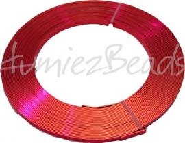 A-5012 Aluminium draad plat Oranje 5mm 10 meter