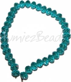 03595 Imitatie swarovski streng (±25cm) Licht blauw 12mmx8mm 1 streng