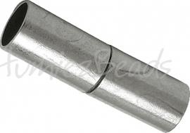 03785 Magneetslot Metaalkleurig 25mmx7mm; gat 6mm 1 stuks