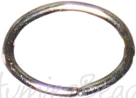 04117 Ringetjes ovaal Metaalkleurig (Nikkelvrij) 5mmx7mmx0,7mm ±50 stuks