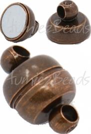00767 Magneetslot Antiek koper 11mmx7mm