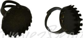 04370 Vingerring Antiek brons 1 stuks