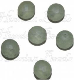 01915 Tsjechische glaskraal Licht groen 14mm 6 stuks
