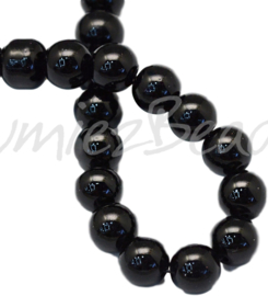 04036 Glasparel Black 3-4mm; gat 0,5mm 1 streng ±30cm