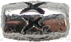 00397 Spacer kruisjes Antiek zilver 5mmx3mm 15 stuks
