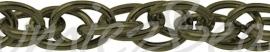 J-0086 Jasseron Antiek brons (Nikkelvrij) 6mmx4mmx1mm 1 meter