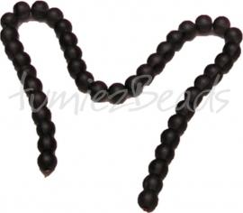 03606 Glaskraal frosted streng ±40cm zwart 10mm 1 streng