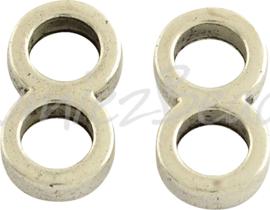 03302 Gesloten ring acht Antiek zilver (Nickel vrij) 14mmx7mmx3mm; gat 5mm 11 stuks