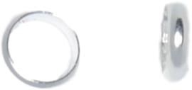 02189 Ring glad Zilverkleurig 8mm 10 stuks