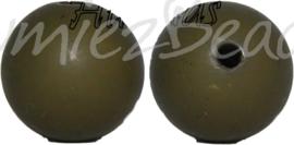 00579 Acrylkraal houtlook Darklhaki Groen 16mm 7 stuks