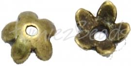 03782 Kralenkap kap Antiek brons (Nikkelvrij) ±25 stuks