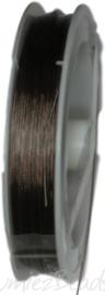 S-1024 Staaldraad Metalic bruin 0,38mm 100 meter