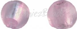 02924 Glaskraal zilverfoil rond Rose 10mm