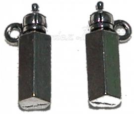 00617 Bedel babyfles Antiek zilver (Nikkel vrij) 18mmx7mm