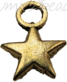 00518 Bedel ster Antiek goud (nikkel vrij) 8mm 11 stuks