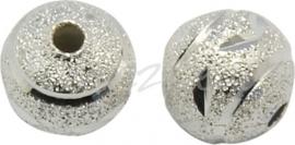 03723 Stardust kraal Zilverkleurig 8mm