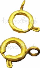 01675 Veerslotje Goudkleurig (Nikkelvrij) 7mm 6 stuks