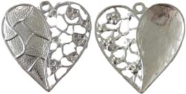 01907 Bedel hart Zilverkleurig 47mmx46mm 2 stuks