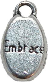 01891 Bedel embrace Antiek zilver 16mmx8mm