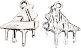 01901 Bedel piano Antiek zilver (Nikkelvrij) 20mmx16mm