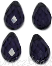 04342 Glaskraal druppel Amethyst 4 stuks