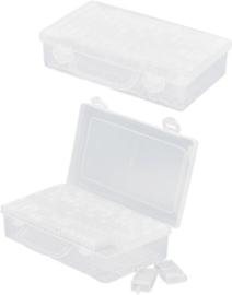 OP-0009 Koffer met 64 flipflop doosjes Transparant 1 koffer