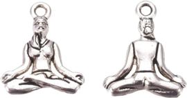 04450 Bedel Yoga Antiek zilver (Nikkelvrij) 20mmx16mmx3,5mm; Gat 2mm 4 stuks