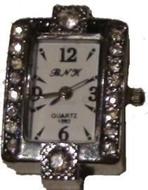 00914 Horloge bling Metaalkleurig/Chrystal  1 stuks