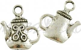 03853 Bedel theepot Antiek zilver (Nikkelvrij) 16mmx14mmx3mm
