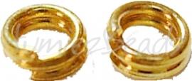 00804 Splitringetjes Goudkleurig (Nikkelvrij) 6mm ±50 stuks