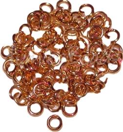 01747 Ringetjes zware kwaliteit Goudkleurig (nickel vrij) 4mmx1mm 100 stuks