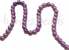 01351 Glasparel streng (±40cm) paars gemeleerd Paars 10mm 1 streng