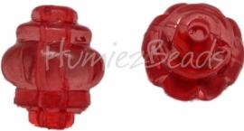00982 Acryl kraal Lampion Rood 12mmx10mm 15 stuks