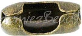 00117 Metaal klemmetje voor 3,5mm bolketting Antiek brons 10mmx4,5mm 10 stuks
