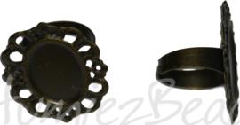 04367 Vingerring Antiek brons  1 stuks