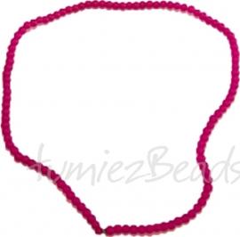 03583 Glasperle strang (±40cm) frosted Rot 4mm 1 strang
