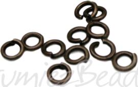 02543 Ringetjes Bronskleurig (nikkelvrij) 10mmx1mm ±40 stuks