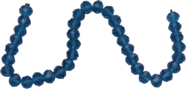 01425 Glaskraal imitatie swarovski faceted Abacus streng (±20cm) Blauw 7mmx10mm 1 streng