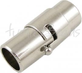 03838 Magneetslot Metaalkleurig 17mmx7mm; gat 6mm 1 stuks