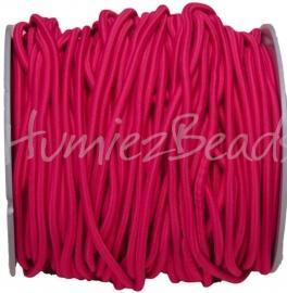 E-0038 Elastiek Fel roze 3mm 1 meter