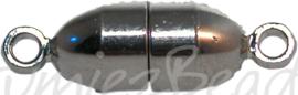 01612 Magneetslot Metaalkleurig (nikkelvrij) 13mmx6mm
