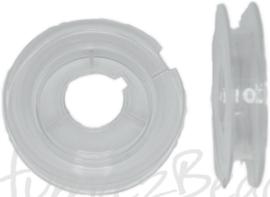 KL-0002 Klosje plastic  Transparant 48mmx10mm 10 rolletjes