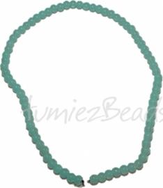 03499 Glaskraal streng (±40cm) imitatie jade Licht blauw 6mm 1 streng