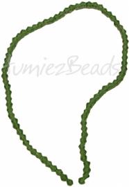 03210 Glaskraal Imitatie swarovski bicone licht groen 4mm 1 streng (±30cm)