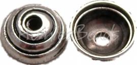 00044 Kralenkap spiraal Antiek zilver (Nikkel vrij) 4mmx11mm 15 stuks
