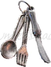 00177 Bestekset Antiek zilver 24mmx4mm