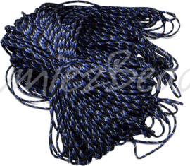 PARA-4042 Parakoord Blauw-wit-zwart 4mm 6 meter